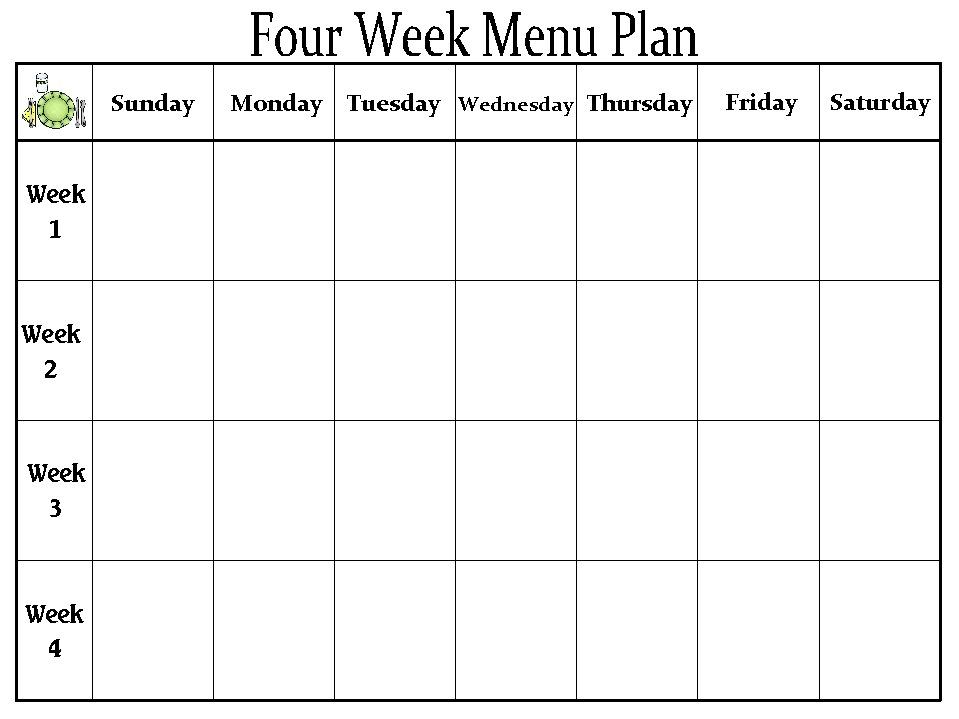 school lunch menu calendar template – Lunch Menu Template