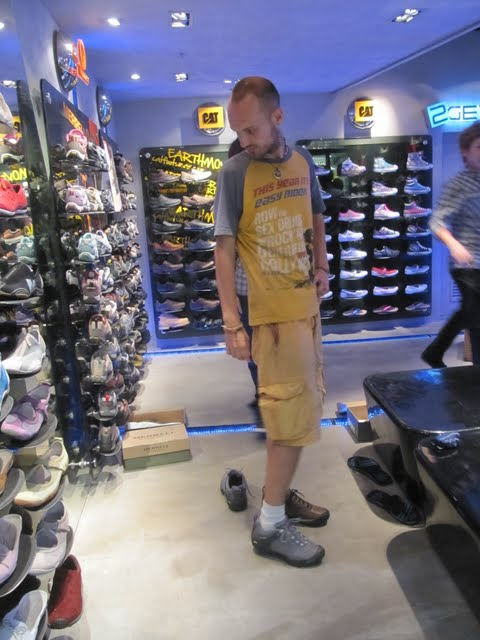 Shopping for trekking shoes in Hong Kong