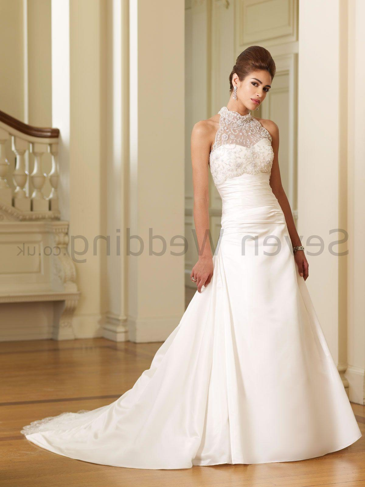 Wedding dresses with high neck