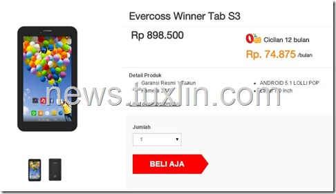 Evercoss Winner Tab S3
