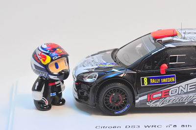 фигурка Кими Райкконена и Citroen DS3 WEC by naokonen