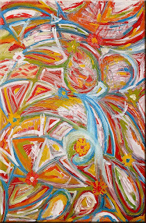 Garden: Spring crazy (oils and acrylic, 2003)