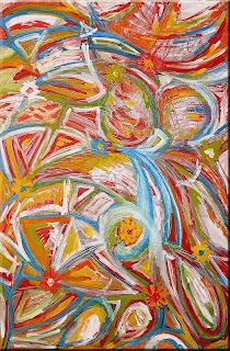 Garden: Spring crazy (oils and acrylic, 2003)
