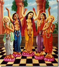 [Lord Chaitanya and associates]