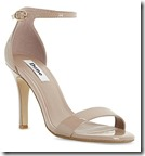 Dune blush patent ankle strap sandal