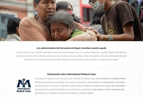 Ayuda para Nepal