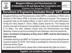 MRPL GATE Advertisement