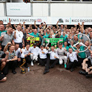 Mercedes celebration after securing their 10th 1-2 finish