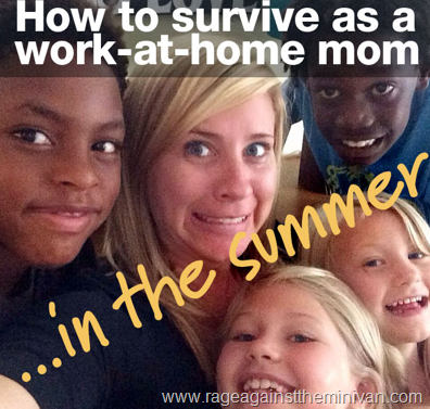 summer work at home mom