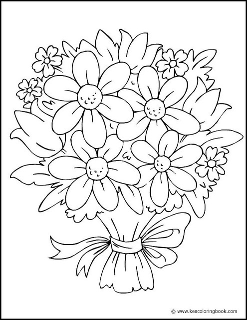 coloring pages of flowers printable - Flower Coloring Pages for Toddlers, Preschool and