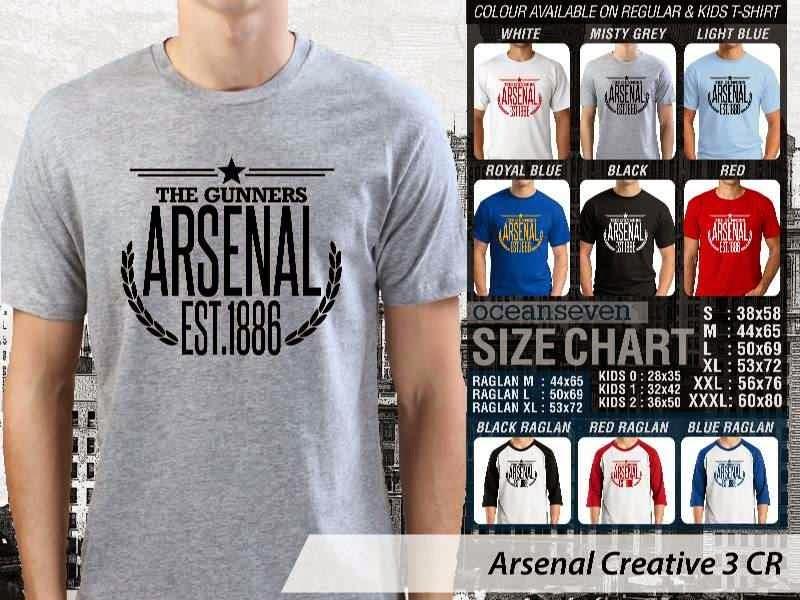 Kaos Bola Arsenal 14 Liga Premier Inggris distro ocean seven