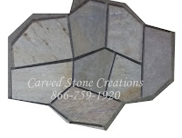 22x33 Serengeti Gold Flagstone Pattern On Mesh
