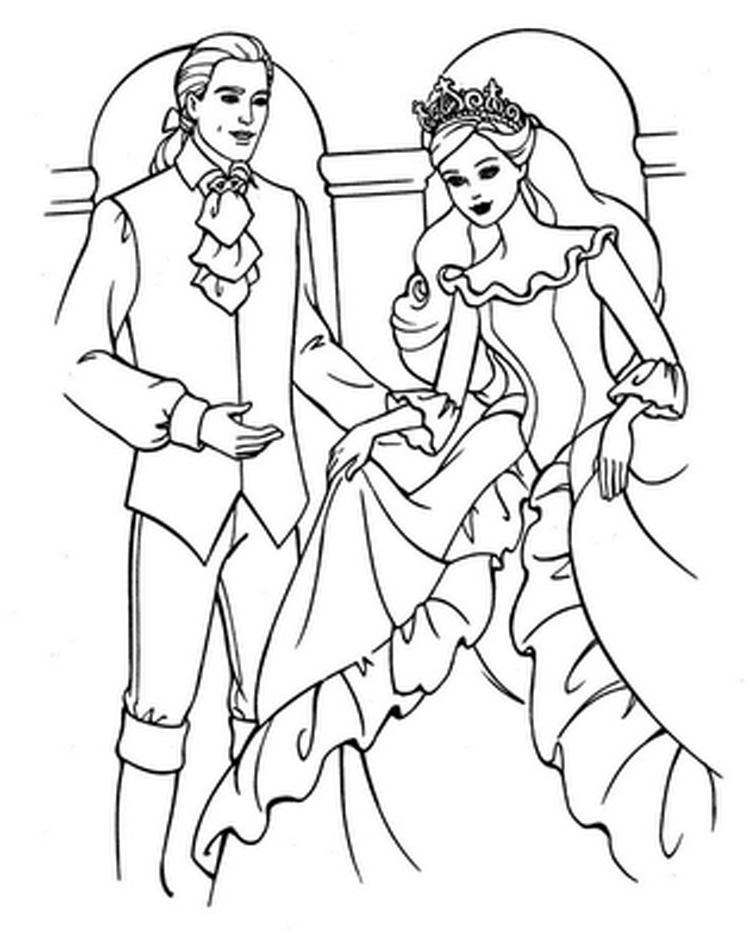 barbie coloring pages free printable - Barbie Coloring Pages for Kids Free Barbie Printable