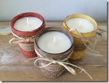 Fall Trio - Soy Candles! Brandied Pear, Pumpkin Spice & Caramel Popcorn Scented