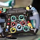 Mercedes W04 steering wheel