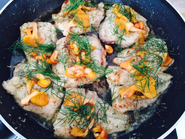 Pan-fried Whitefish with wild chanterelles