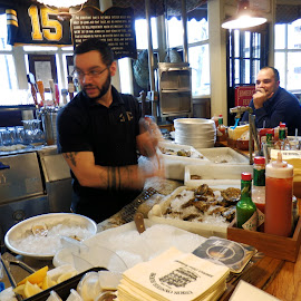 Oyster Shucking by Don Bates - People Street & Candids ( oysters, boston, seafood, tavern, historic )
