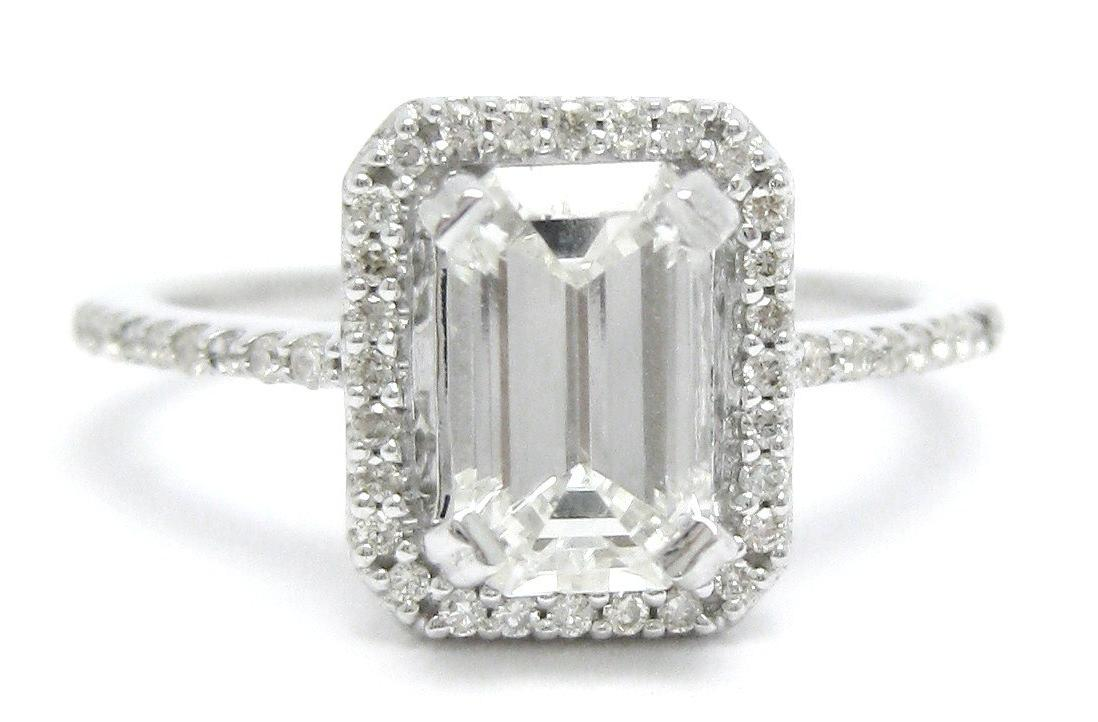 2.00ctw EMERALD cut ANTIQUE