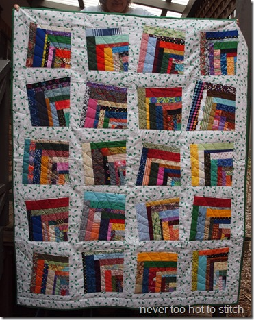 finished quilt from front