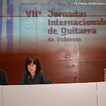 Wolf Moser, Cristina Sánchez, Presidenta de Trujamán y Ruiz del Puerto, Director Artístico de las Jornadas I. de Guitarra de Valencia