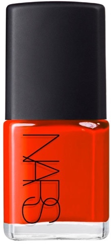 New York Fashion Week Street Style Tech: NARS Polish in Hunger Mandarin Red