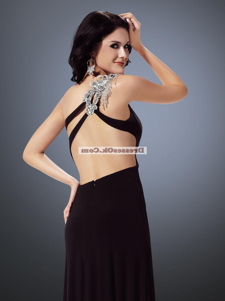 2011 Winter fashion trends column one shoulder Floor-Length Prom Dress Style