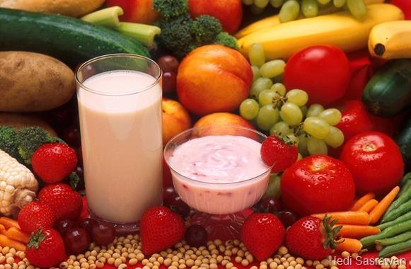 contoh makanan yang mengandung gizi