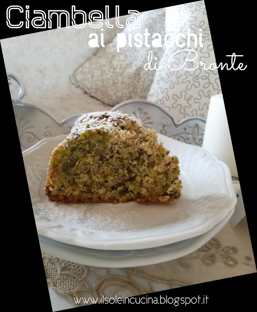 ciambella ai pistacchi di bronte - senza glutine