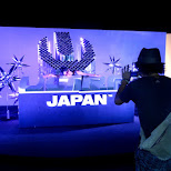 the Ultra Japan 2015 logo photo area in Tokyo, Tokyo, Japan
