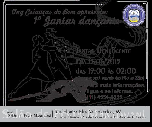 Anuncio divulgação -  Jantar dançante 2015 - CDB