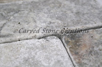 "24"" x 96"" x 2"" Silver Travertine Slab Honed/Unfilled Finish"