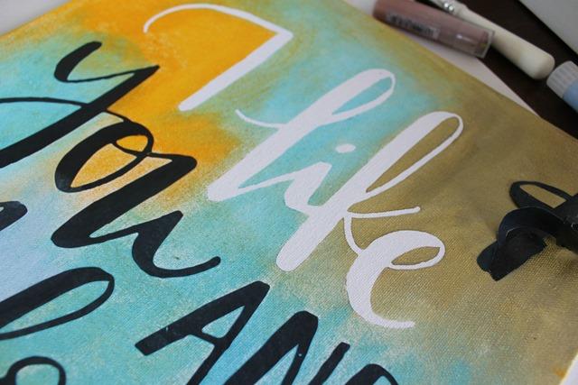 stenciled sign #stencil