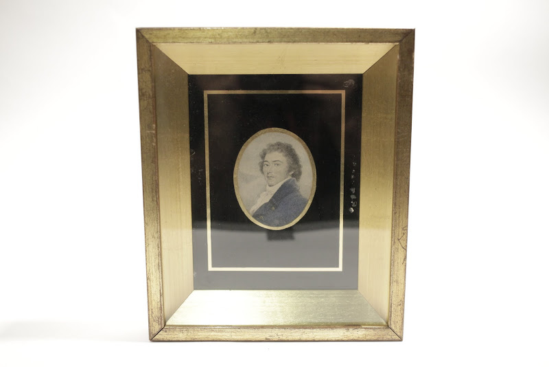 Small Etching in Gold frame