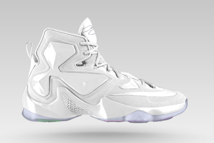 all white lebron james shoes