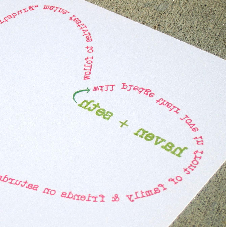 Haven Modern Wedding Invitation Sample Set. From StelieDesigns