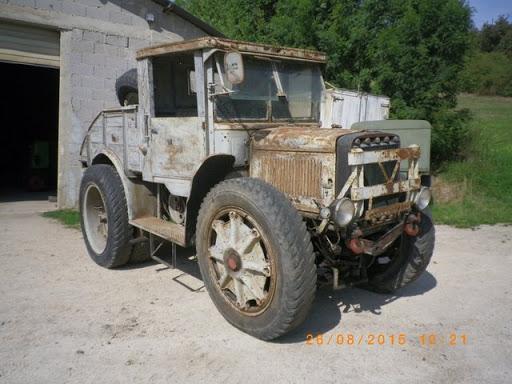Breda Militärzugmaschine mit Winde Bj. 1938