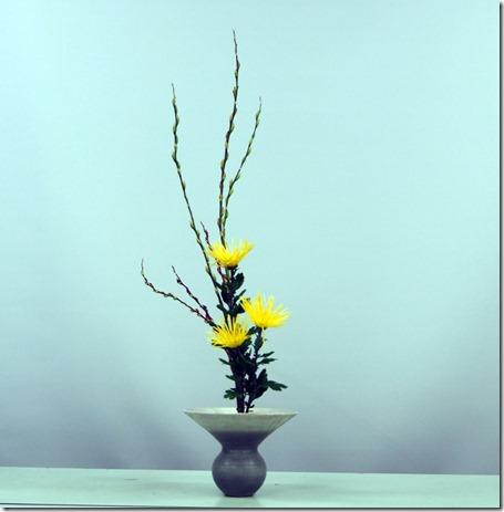 【生花正風体】ネコヤナギ、糸菊