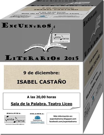 CARTEL ISABEL CASTAÑO web cubo
