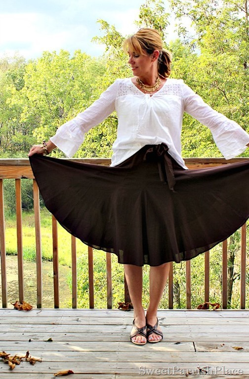 brown-midi-skirt-white-blouse3