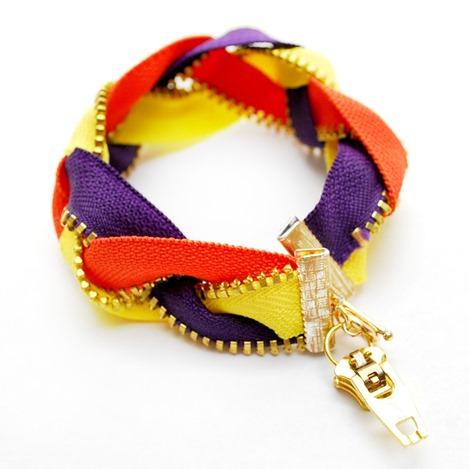Zipper Bracelet Tutorial - The Silly Pearl