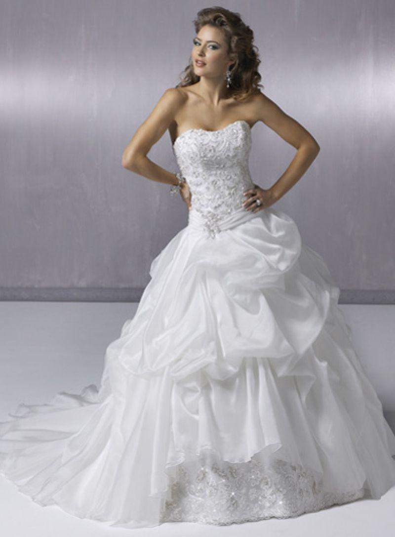 pick up ball gown wedding
