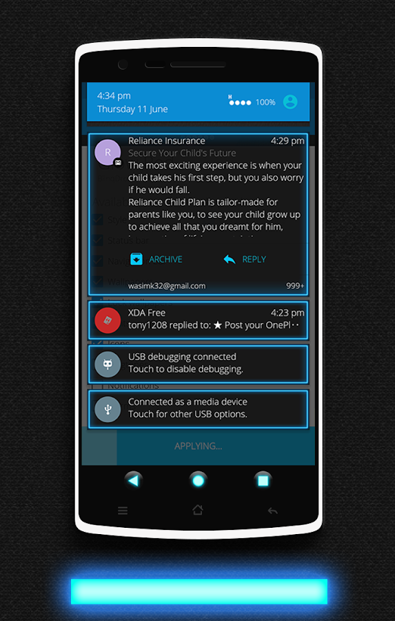 Glow CM13 CM12/12.1 Theme Screenshot 4