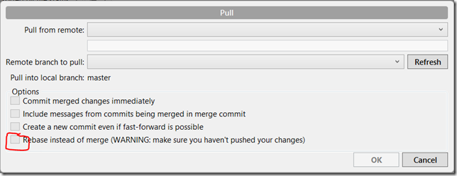 git merge strategy options