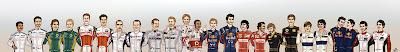 карикатура пилотов Формулы-1 сезона 2011 от Yelaeve