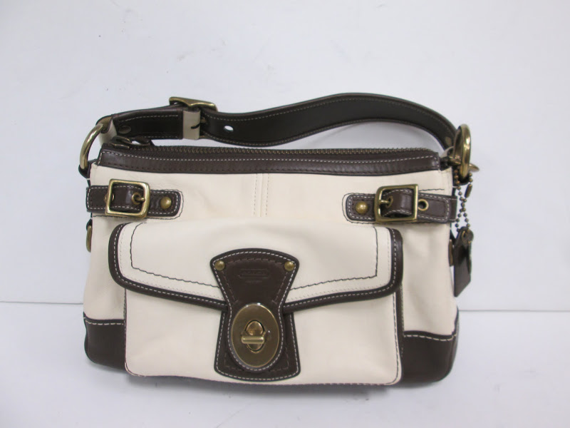 Coach Beige and Brown Handbag