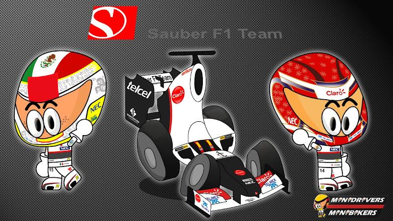 Sauber C31 и пилоты Серхио Перес и Камуи Кобаяши - Los MiniDrivers 2012