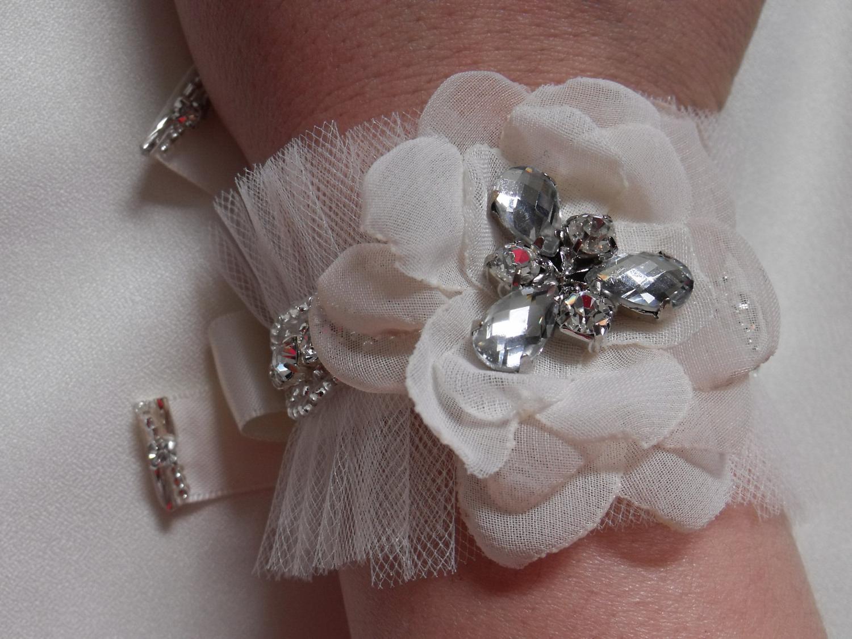 Ivory Bracelet, Bridal Cuff,