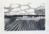 Dej BAO. 004 . Un Chemin dans la Pierre . 1975 . Lithographie . 36,5 x 55cm