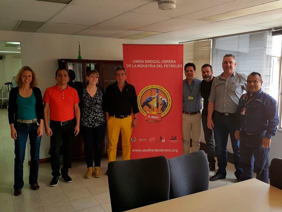 Comisión sindical europea plantea con la USO red de apoyo y denuncia internacional