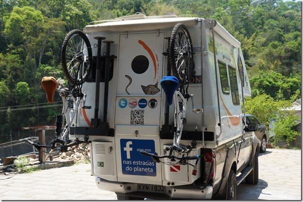 Camper - instalando o suporte das Bikes 13